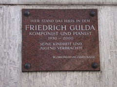 FGulda birthplace Vienna